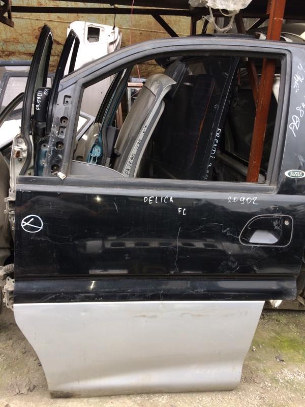 Стекло двери Mitsubishi Delica PE8W переднее левое (б/у)