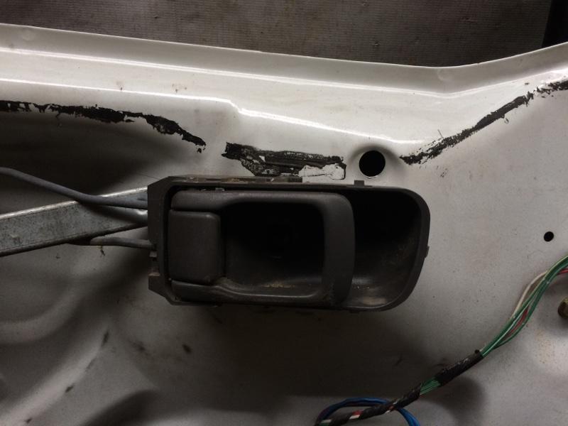 Ручка двери внутренняя Nissan Elgrand AVE50 передняя левая (б/у)