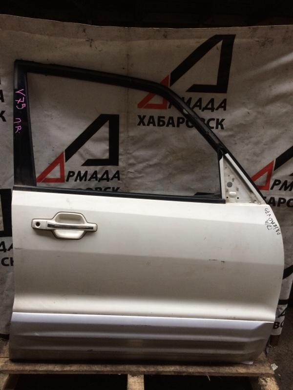 Дверь Mitsubishi Pajero V75W передняя правая (б/у)