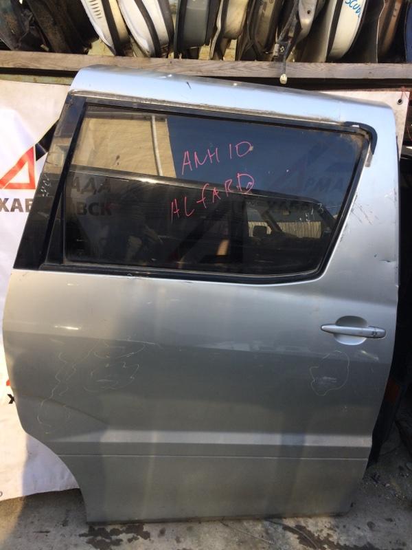 Дверь боковая Toyota Alphard ANH10 задняя правая (б/у)