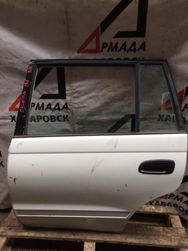 Дверь Toyota Caldina ET196 задняя левая (б/у)