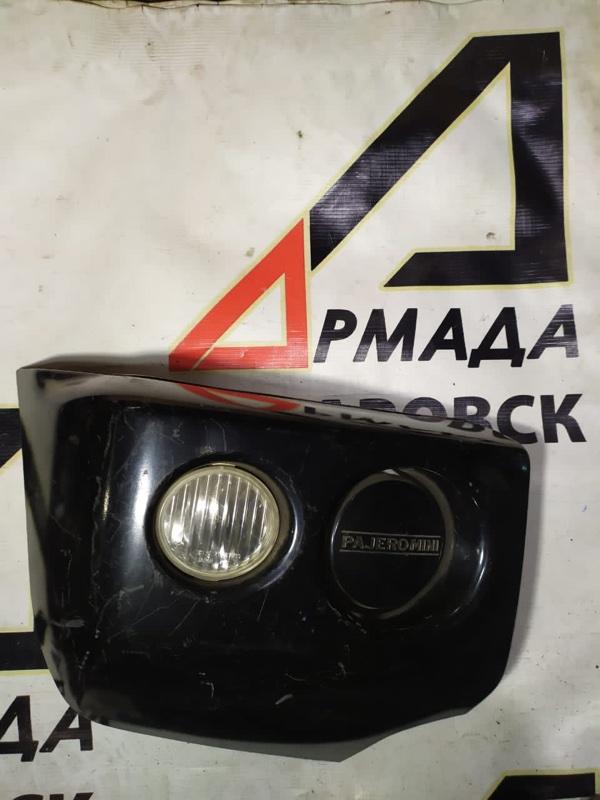 Клык бампера Mitsubishi Pajero Mini H58A передний правый (б/у)