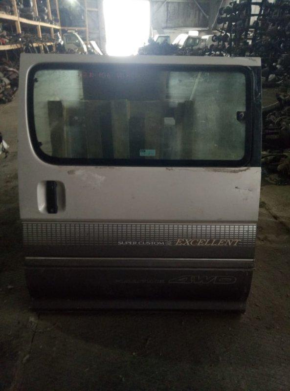 Уплотнительная резинка на стекло двери Toyota Hiace Regius KCH46 1KZ задняя левая (б/у)