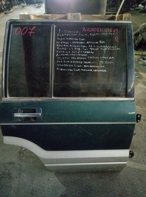 Уплотнительная резинка на стекло двери Isuzu Bighorn UBS69 задняя правая (б/у)