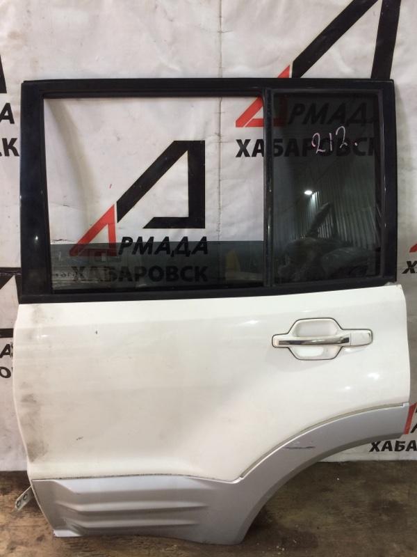 Дверь Mitsubishi Pajero V75W 6G74 задняя левая (б/у)