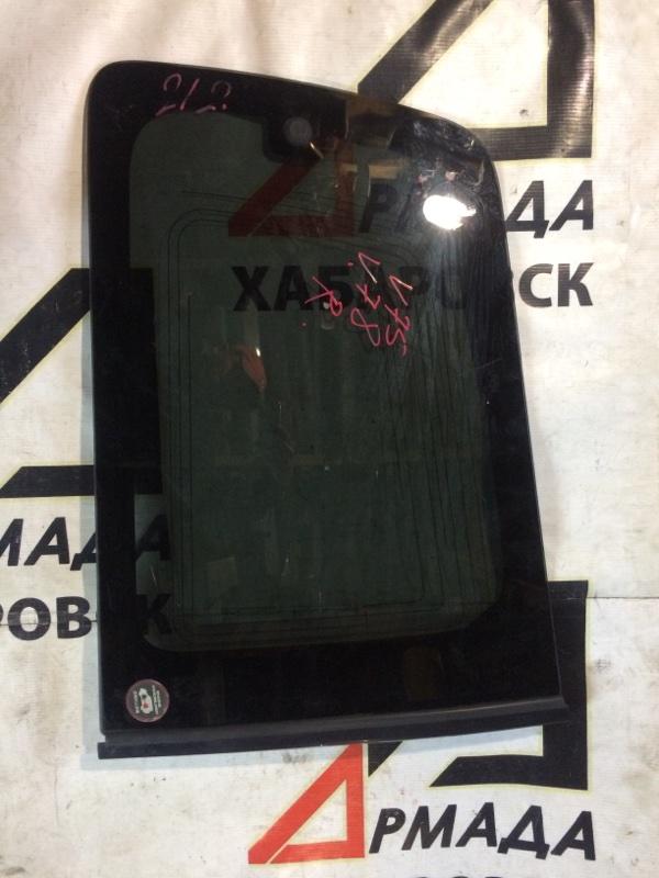 Стекло собачника Mitsubishi Pajero V75W 6G74 заднее правое (б/у)