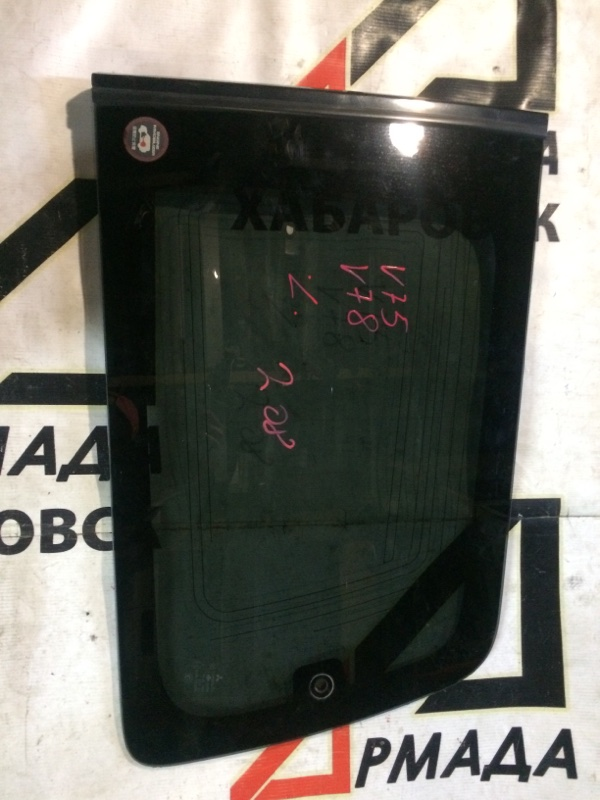 Стекло собачника Mitsubishi Pajero V75W 6G74 заднее левое (б/у)