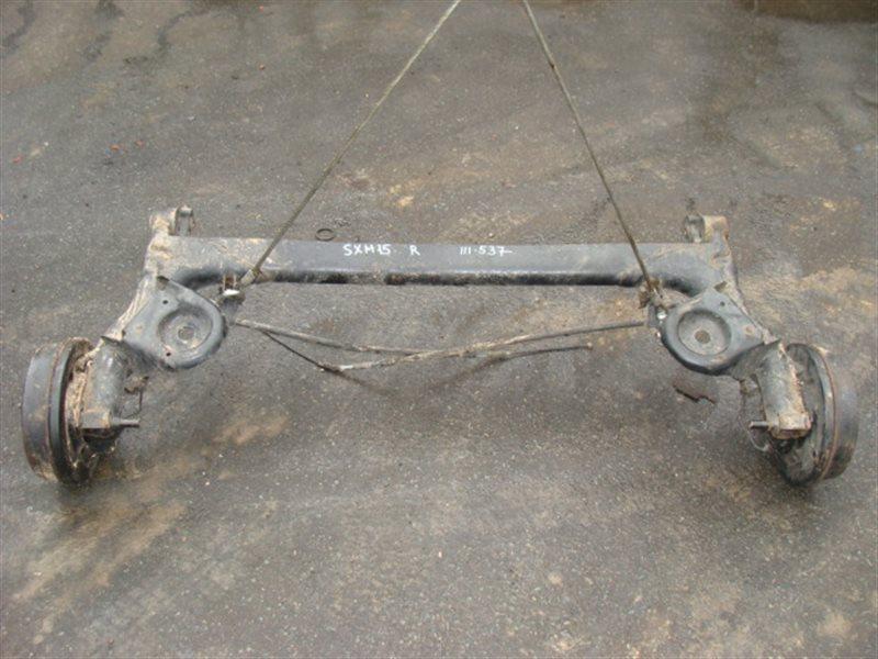 Балка со ступицами Toyota Ipsum SXM15 задняя (б/у)
