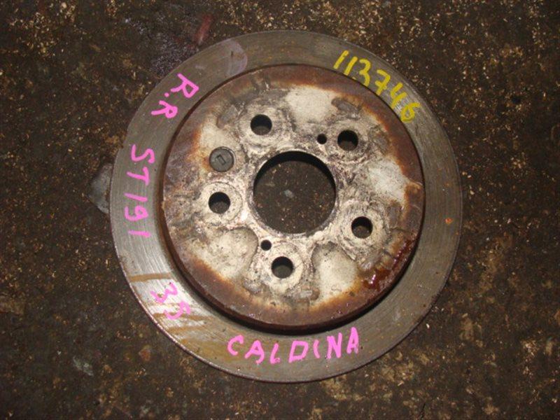Тормозной диск Toyota Caldina ST191 задний (б/у)