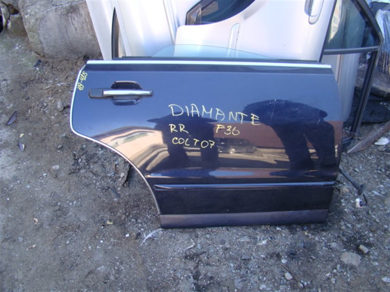 Дверь Mitsubishi Diamante F36A задняя правая (б/у)