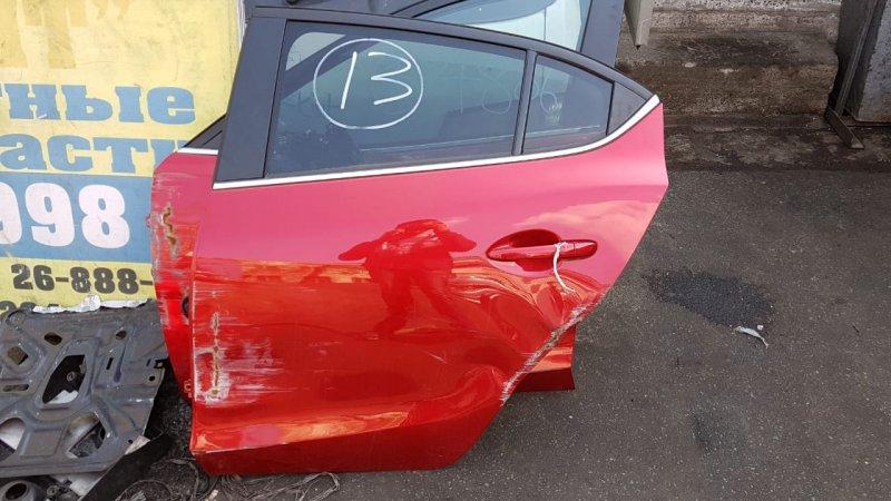 Стекло двери Mazda Axela BM5FS P5 заднее левое (б/у)