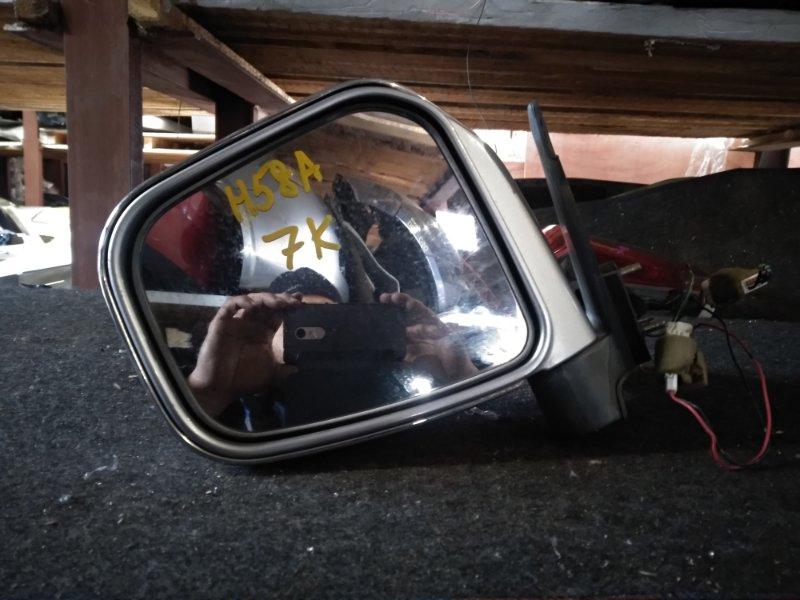 Зеркало Mitsubishi Pajero Mini H58A левое (б/у)
