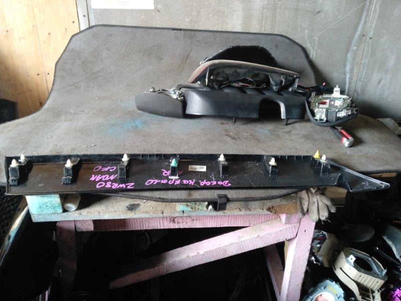 Накладка на крыло Toyota Voxy ZWR80 задняя правая (б/у)