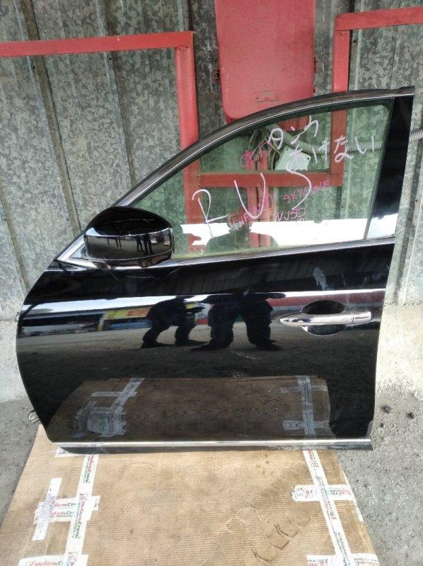 Дверь Nissan Skyline Crossover NJ50 передняя левая (б/у)