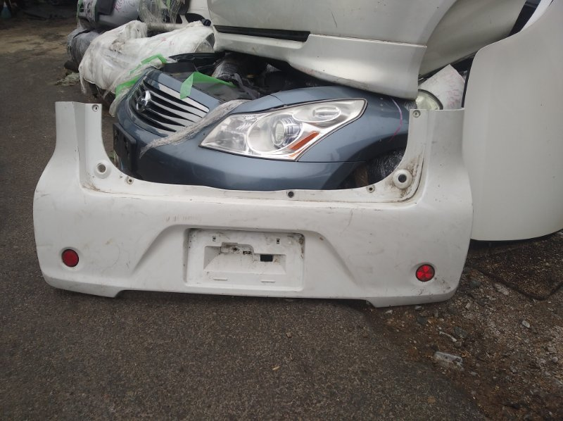 Бампер Mitsubishi Ek Wagon B11W задний (б/у)