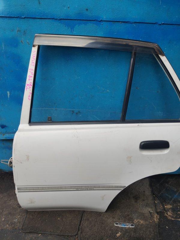 Дверь Toyota Starlet EP82 задняя левая (б/у)