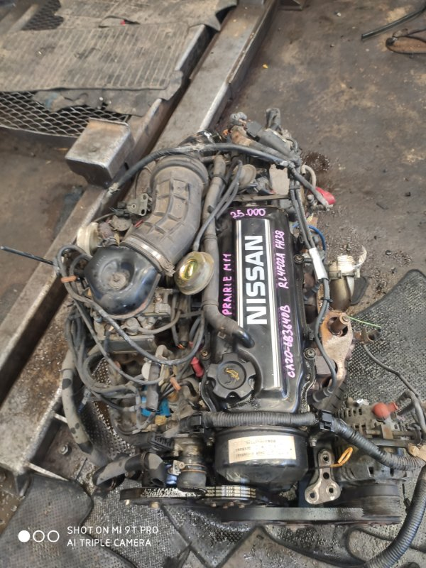 Двигатель Nissan Prairie M11 CA20 (б/у)