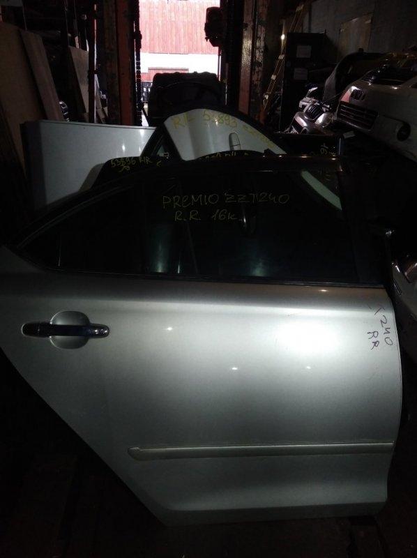Дверь Toyota Premio ZZT240 задняя правая (б/у)