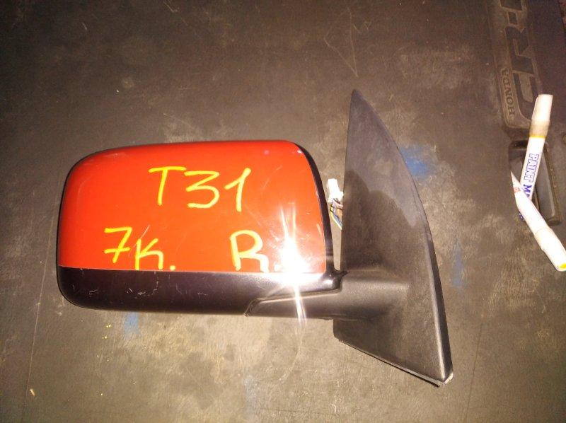 Зеркало Nissan X-Trail T31 переднее правое (б/у)
