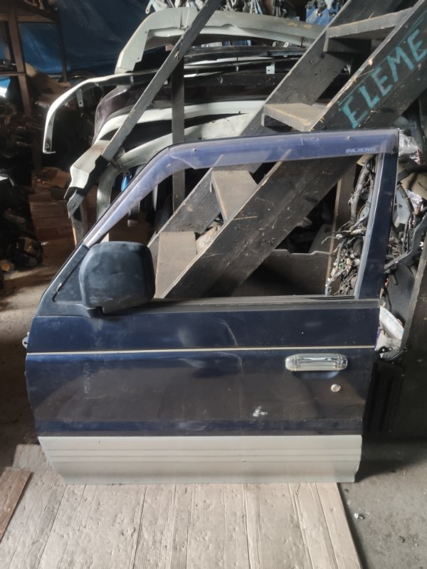 Дверь Mitsubishi Pajero V26W передняя левая (б/у)