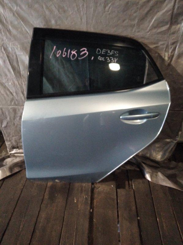 Зеркало Mazda Demio DE3FS заднее левое (б/у)