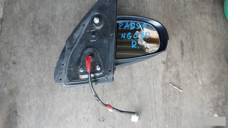 Зеркало Toyota Passo NGC30KGC30KGC35 1NRFE1KRFE 2012 правое (б/у)