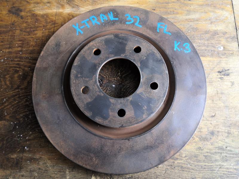 Тормозной диск Nissan X-Trail HNT32 MR20 передний левый (б/у)