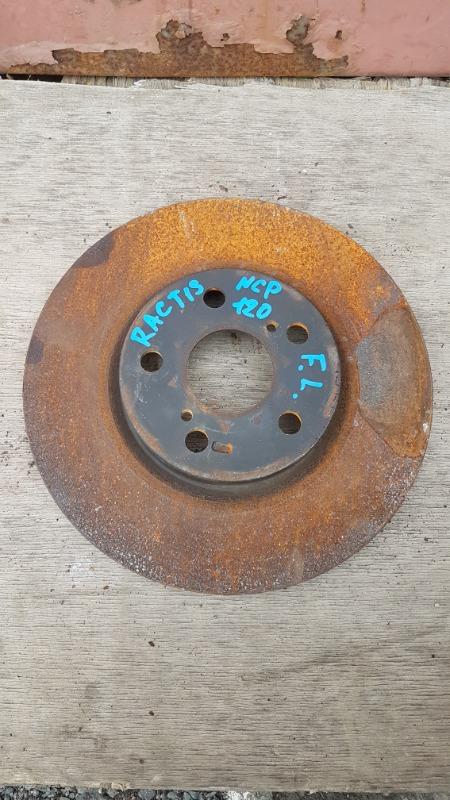 Диск тормозной Toyota Ractis NCP120 1NZ 2011 передний левый (б/у)