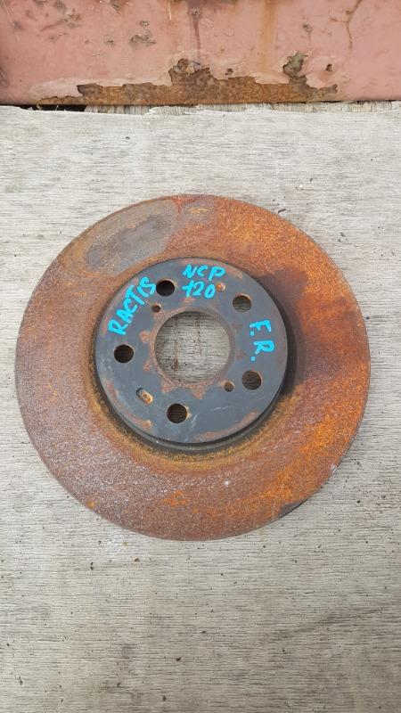 Диск тормозной Toyota Ractis NCP120 1NZ 2011 передний правый (б/у)