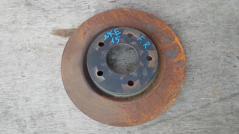 Диск тормозной Nissan Juke YF15 HR15 2011 передний правый (б/у)