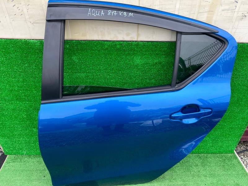 Дверь Toyota Aqua NHP10 1NZ 2014 задняя левая (б/у)