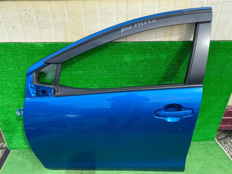 Дверь Toyota Aqua NHP10 1NZ передняя левая (б/у)