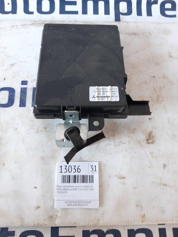 Блок управления климат-контролем Mitsubishi Lancer CY3A 4B10 2008 (б/у)