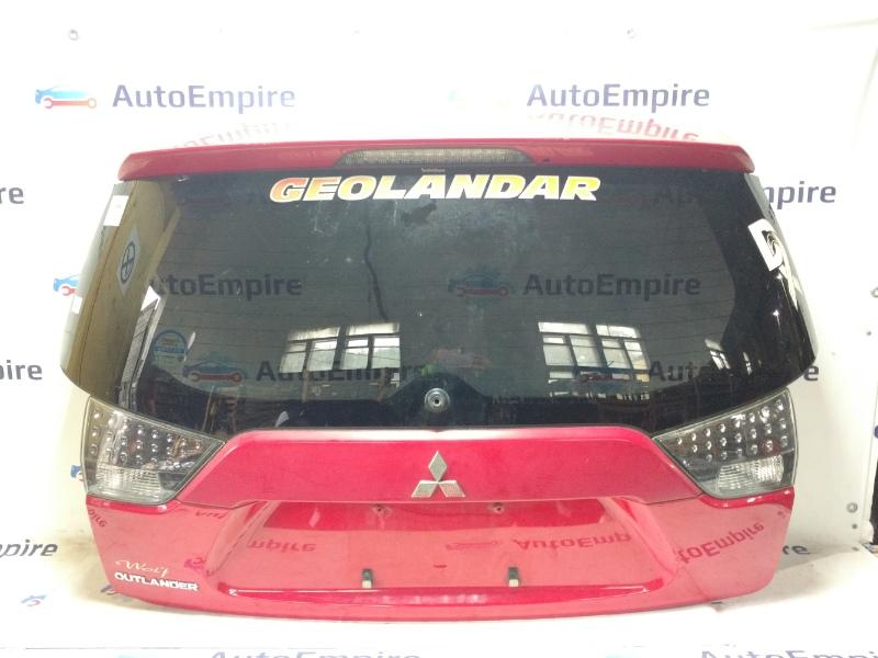 Крышка багажника Mitsubishi Outlander Xl CW5W 4B12 2008 задняя (б/у)