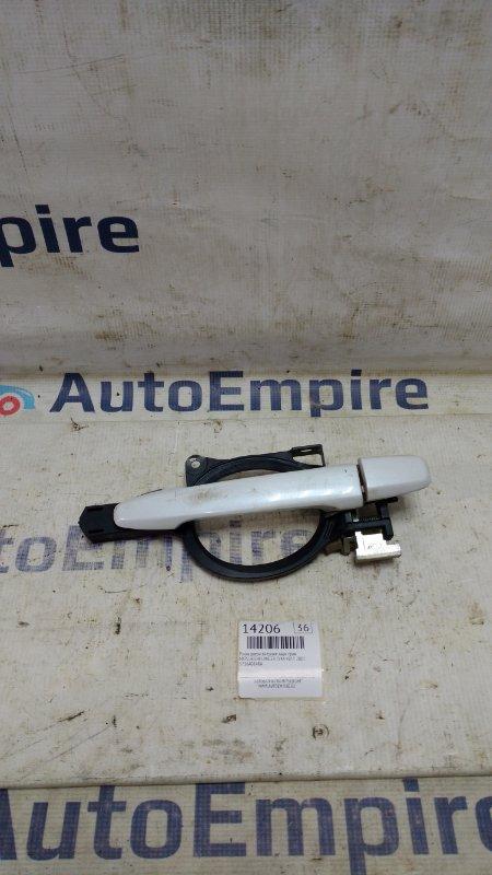 Ручка двери внешняя Mitsubishi Lancer CY4A 4B11 2007 задняя правая (б/у)