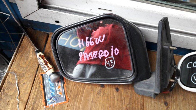 Зеркало Mitsubishi Pajero Io 76 1998 переднее левое (б/у)