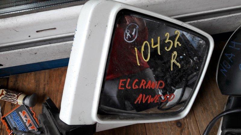 Зеркало Nissan Elgrand AVE50 1999 переднее правое (б/у)