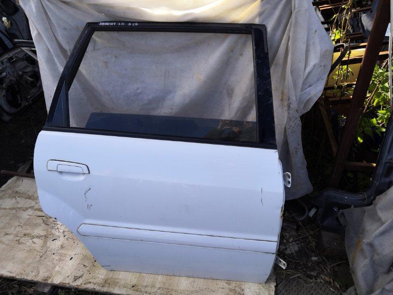 Дверь Mitsubishi Chariot Grandis N84W 1997 задняя правая (б/у)