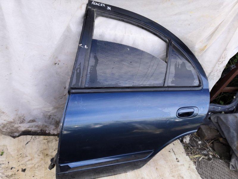 Дверь Nissan Almera QG10 2000 задняя левая (б/у)