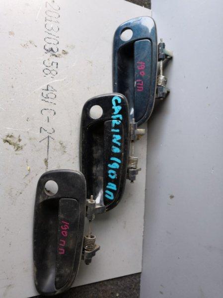 Ручка двери внешняя Toyota Corona ST190 1992 передняя правая (б/у)