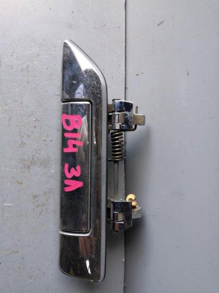 Ручка двери внешняя Nissan Bluebird EU14 1996 задняя левая (б/у)