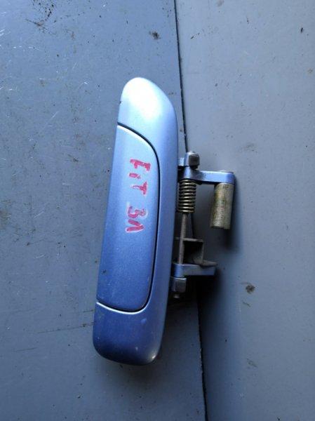 Ручка двери внешняя Honda Fit GD1 2001 задняя левая (б/у)