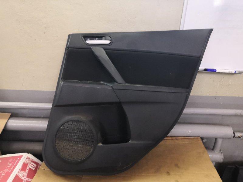 Обшивка двери Mazda Mazda3 BL 2009 задняя правая (б/у)