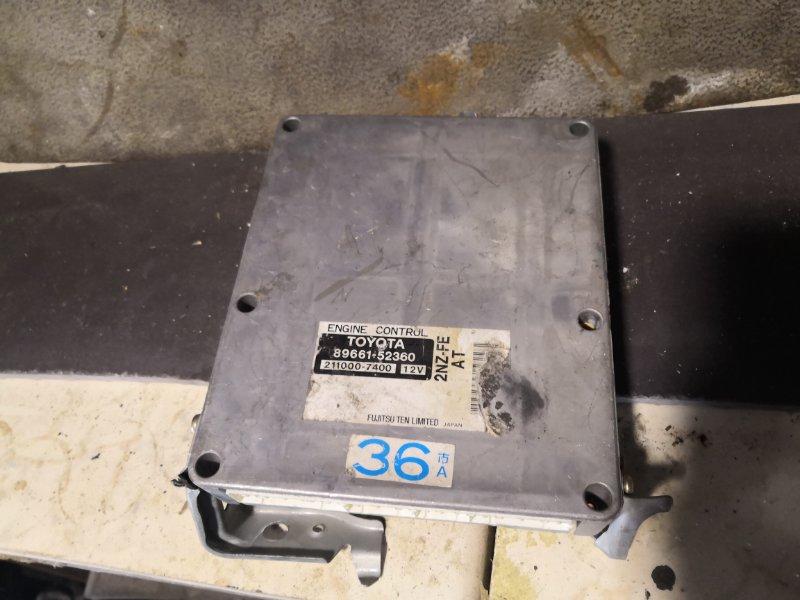 Блок управления двс Toyota Funcargo NCP20 2NZ FE 2000 (б/у)