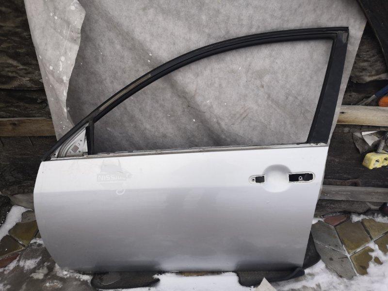 Дверь Nissan Primera P12 QR20 2002 передняя левая (б/у)