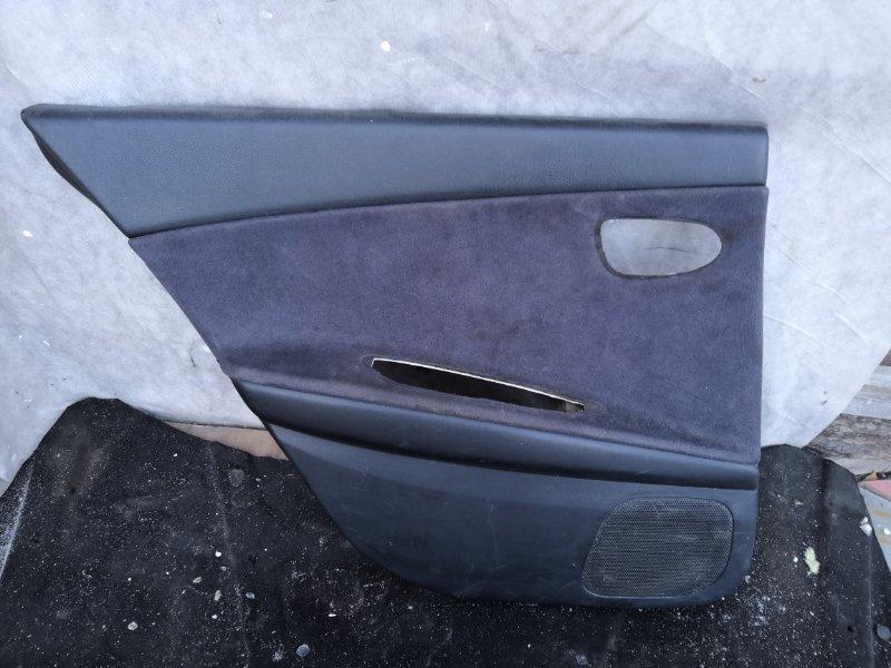 Обшивка двери Nissan Primera P12 QR20 2002 задняя левая (б/у)
