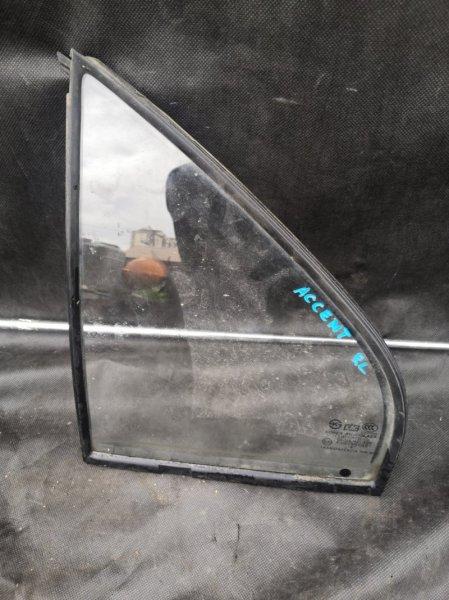 Форточка двери Hyundai Accent LC G4EC 1999 задняя левая (б/у)