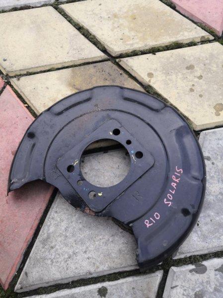 Кожух ступицы Kia Rio QB G4FC 2011 задний правый (б/у)