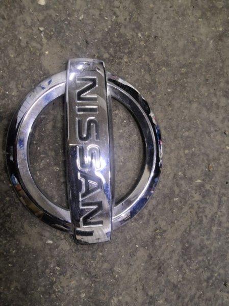 Эмблема Nissan Micra K12 2002 задняя (б/у)