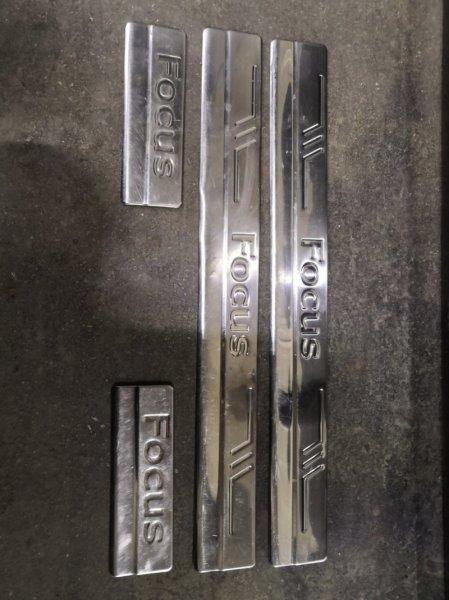 Накладка на порог Ford Focus 2 CB4 SHDA 2008 (б/у)